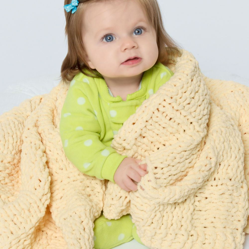 Perfectly sized for baby, this ultra-easy blanket is knit ...