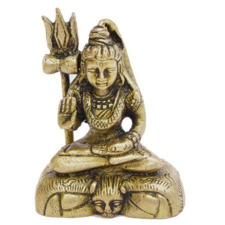 Amazon.com: Sitting Shiva Meditation Hindu Gods Religious Gifts Brass Statue: Furniture & Decor