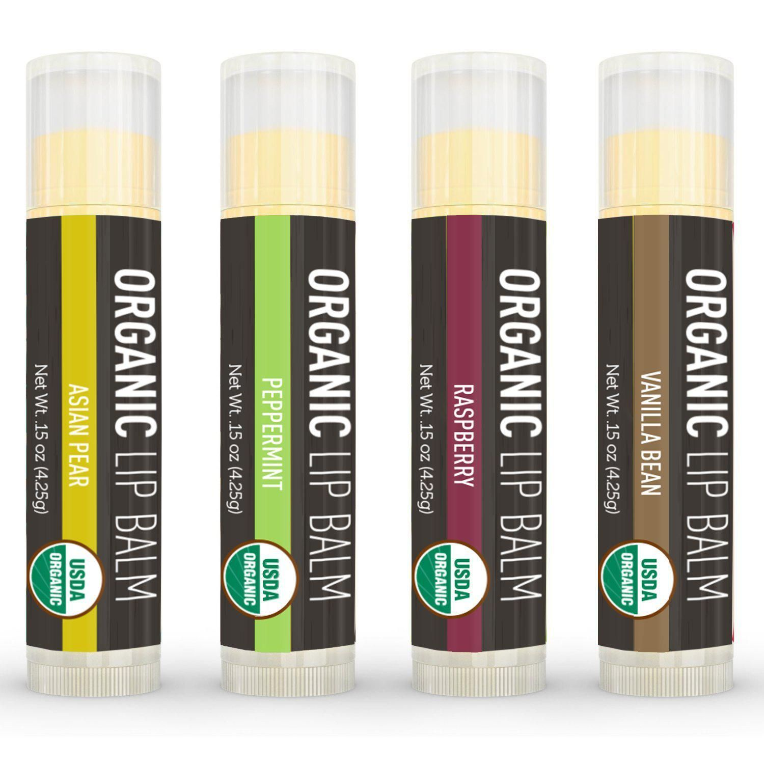 Image result for La Lune Naturals |, 4-pack Organic Lip Balm