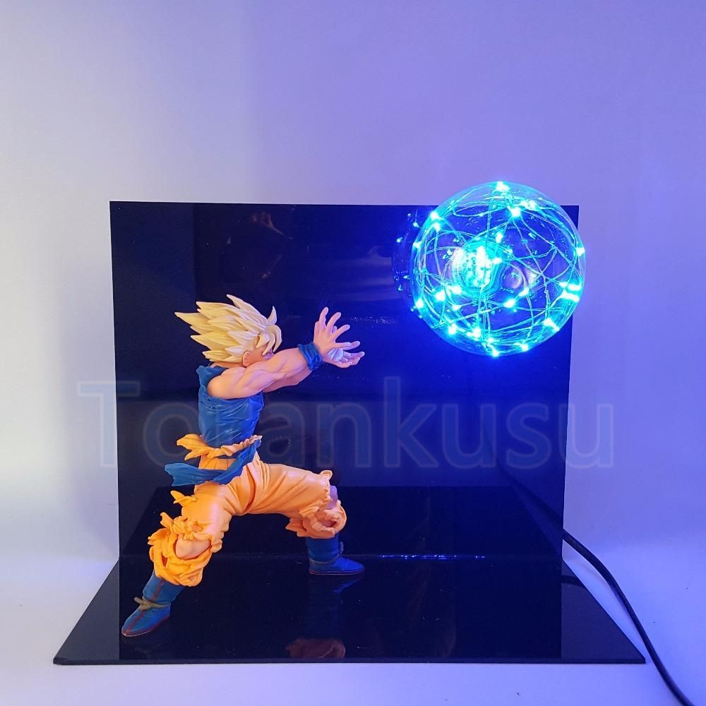 Dragon Ball Z Action Figure Son Goku Kamehameha Diy Display Figuras De Goku Decorar Habitacion Juvenil Figuras De Dragones