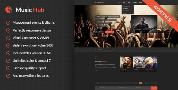 MusicHub - Music/Band/Club/Party Wordpress Theme - Music and Bands ...