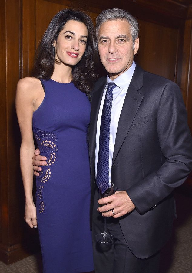 5b6c93f8d Amal Clooney Wows in Sexy Cutout Dress as She Supports Hubby George—See the  Pic! Amal Clooney, George Clooney