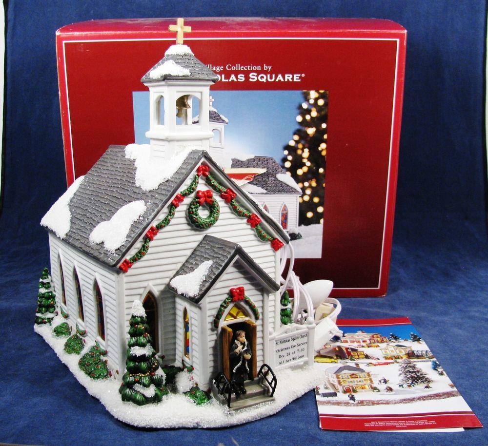 St Nicholas Christmas Village.Details About Vtg 1990 S St Nicholas Square Village Collection