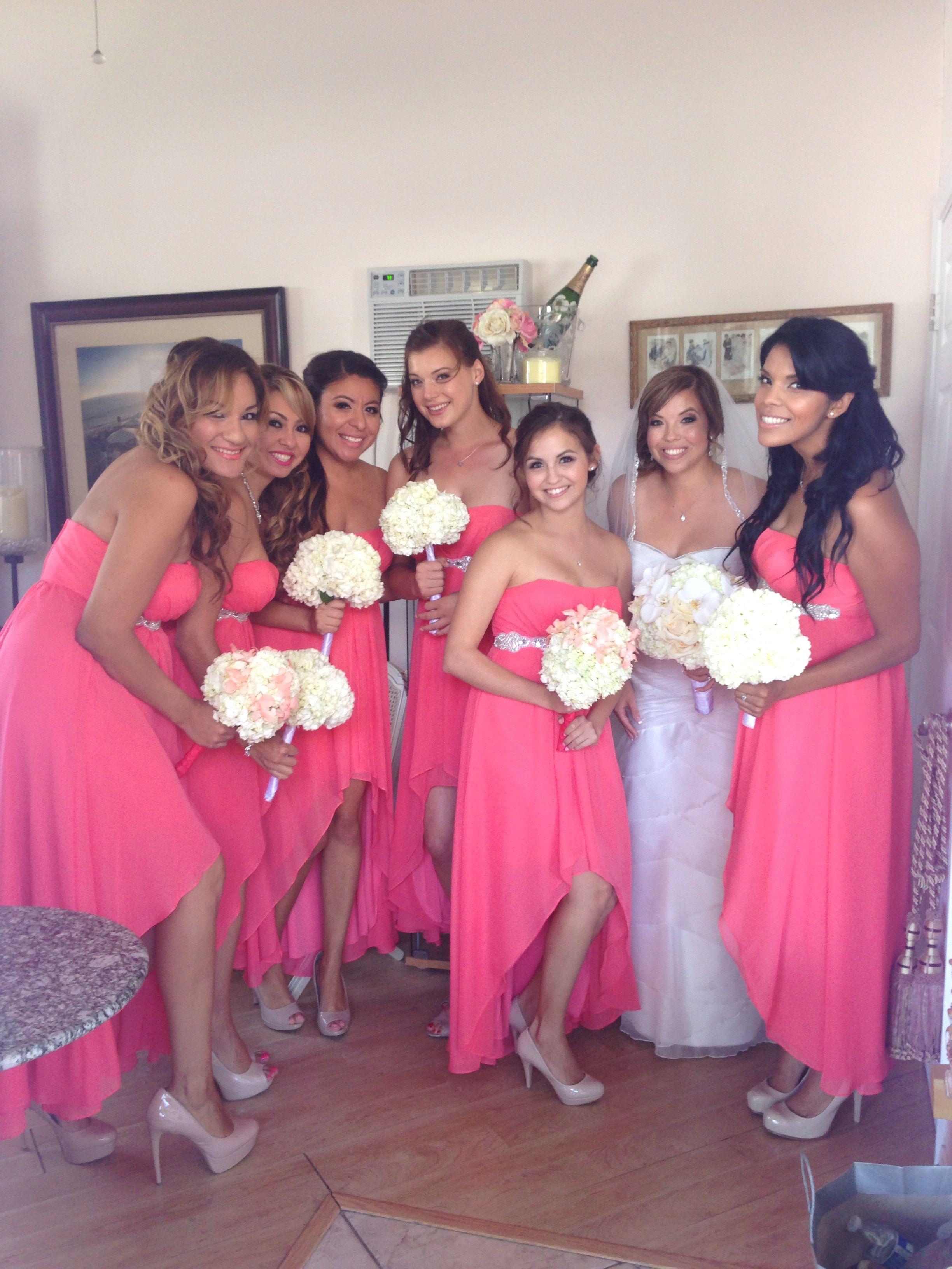 Coral bridesmaid dress .. Laguna beach wedding | My future wedding ...