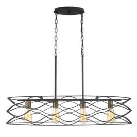 quoizel unity 11 in w 4 light mottled black with gold casual rh pinterest com