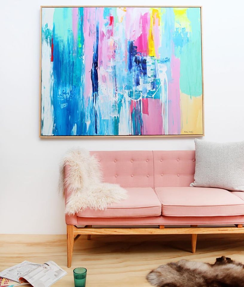 living room art prints%0A Drifting VIII is a vibrant limited edition fine art print by sought after  contemporary Sydney artist Celeste Wrona