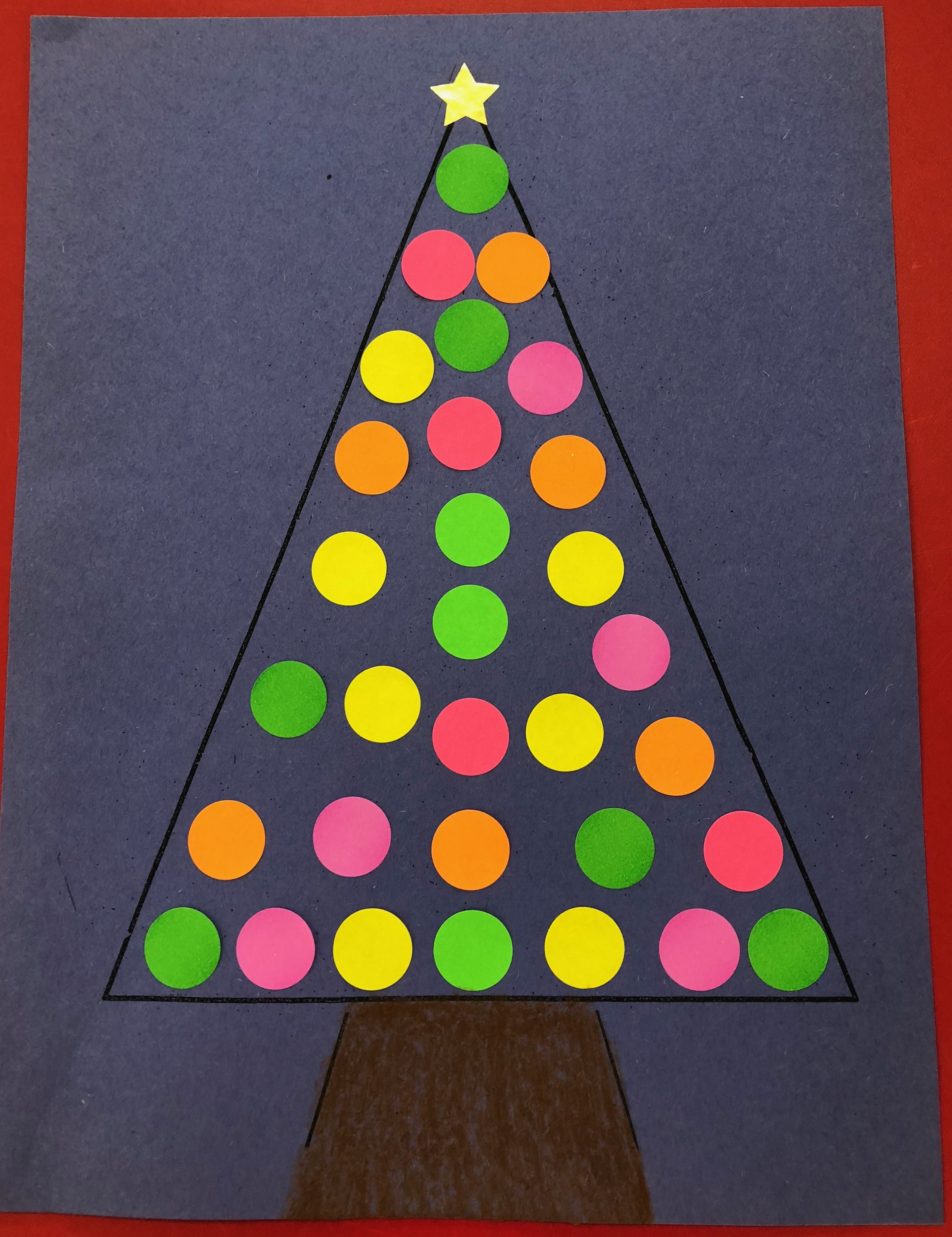 XmasChristmas Tree (solid color circle labels). (With