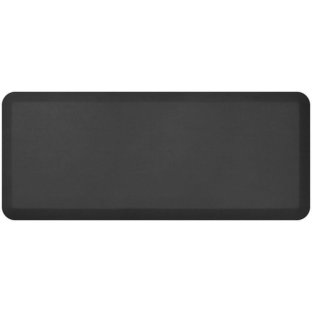 Gelpro Newlife Designer Comfort Leather Grain Anti Fatigue Floor Mat 20 X 48 Jet Kitchen Utilities Design Leather