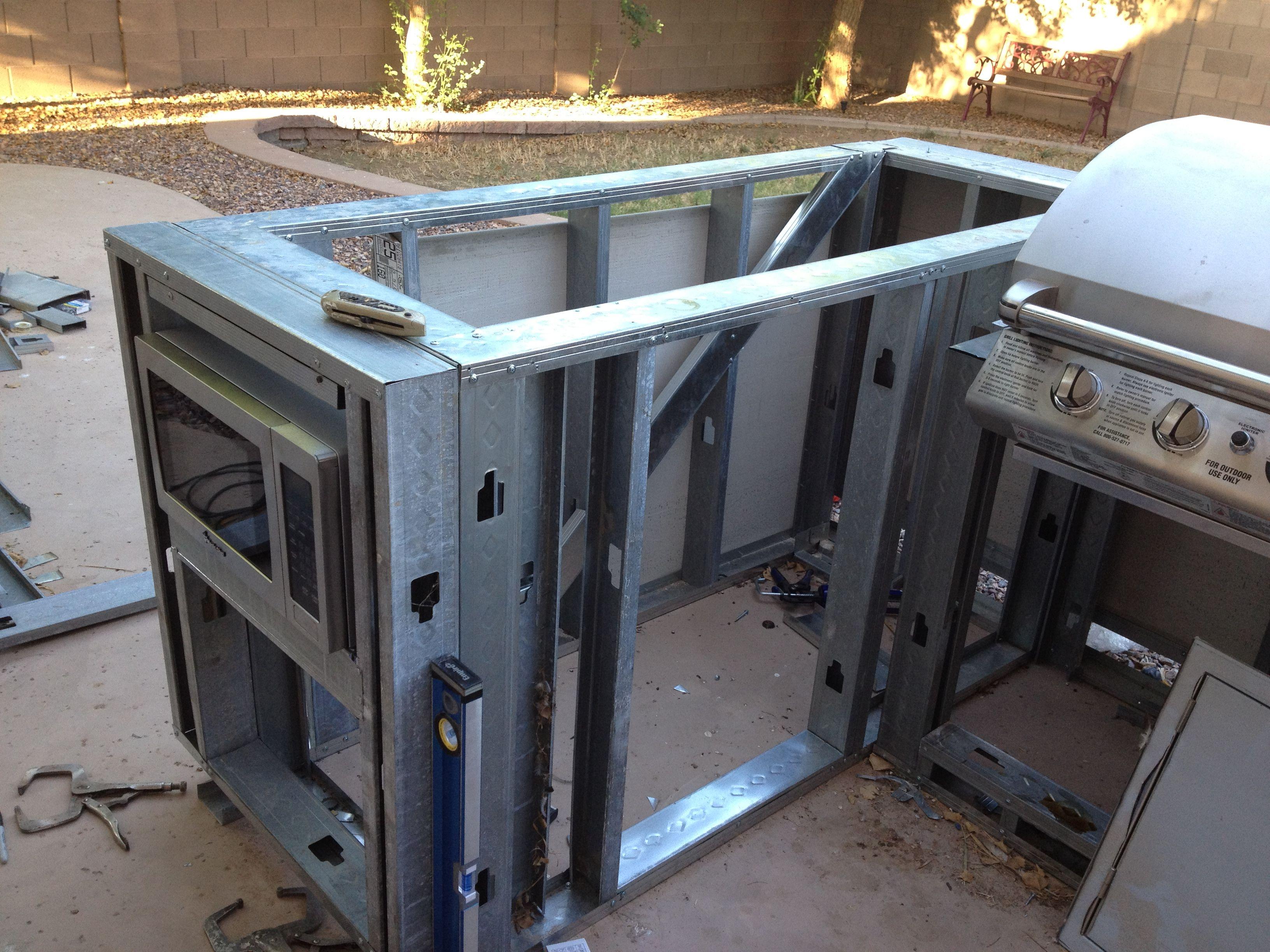 Modular Outdoor Kitchen Frames Resplendent Outdoor Kitchen Frame Plans With Minimalist Prefab
