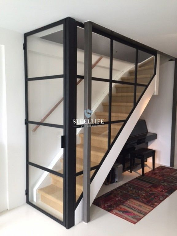 Steel doors with glass and steel stairs Steellife®