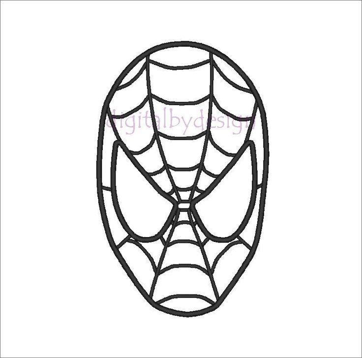 Spiderman Cake Template