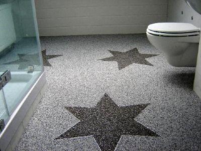 Steinteppich selbst verlegen | Badezimmer | Pinterest | Steinteppich ...