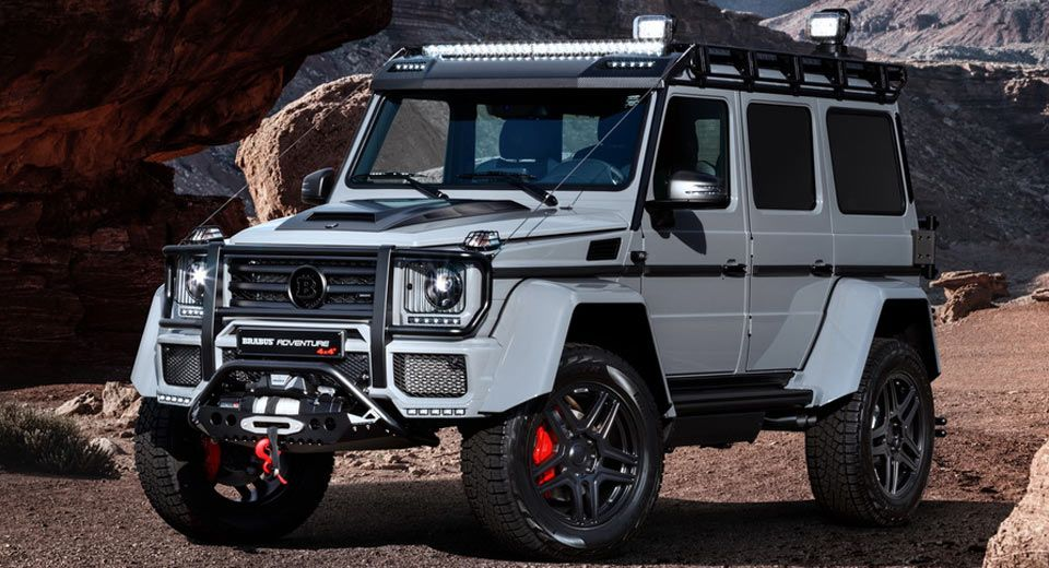 brabus 550 adventure takes the mercedes g500 4x4 even further to rh pinterest com