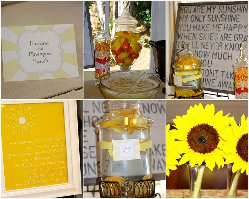 Shower Party · Sunflowers. My Little Sunshine Baby ...