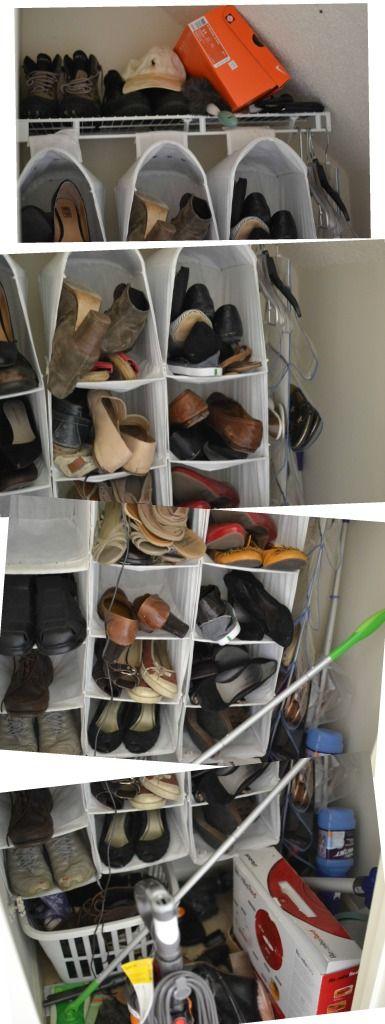 Under the Oaks blog: Simple Shoe Closet Makeover #organization