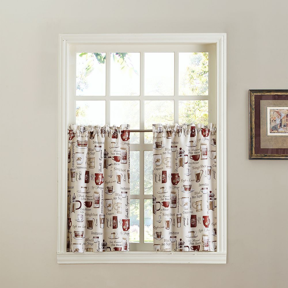 top of the window espresso 2 pack tier curtains products kitchen rh pinterest com