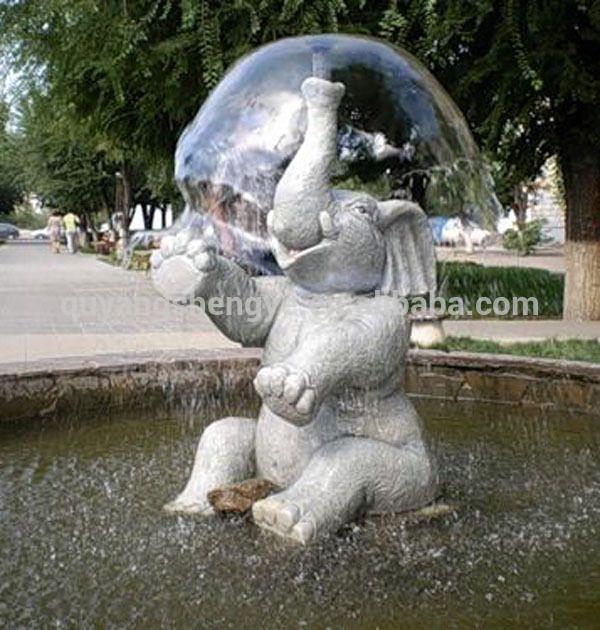 Elephant Fountain Pure Hand Carving Stone Water