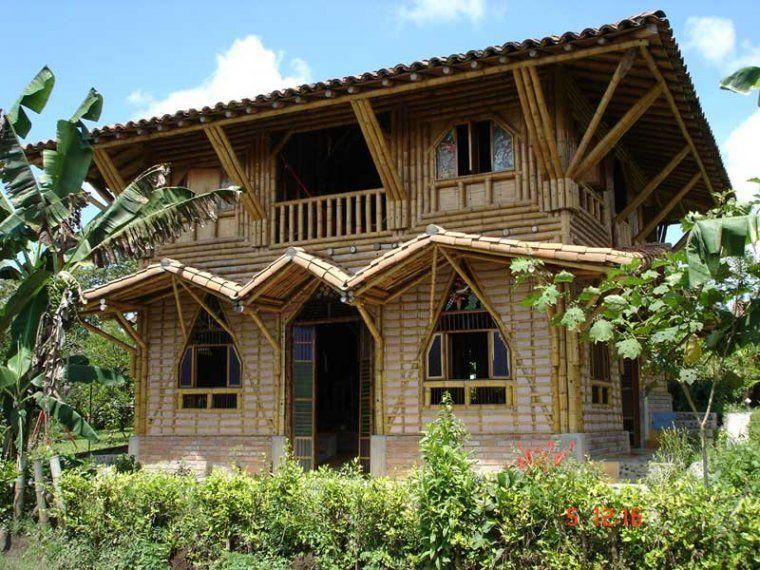 ecoideas y reciclaje casas sostenibles de bamb captacin de co por