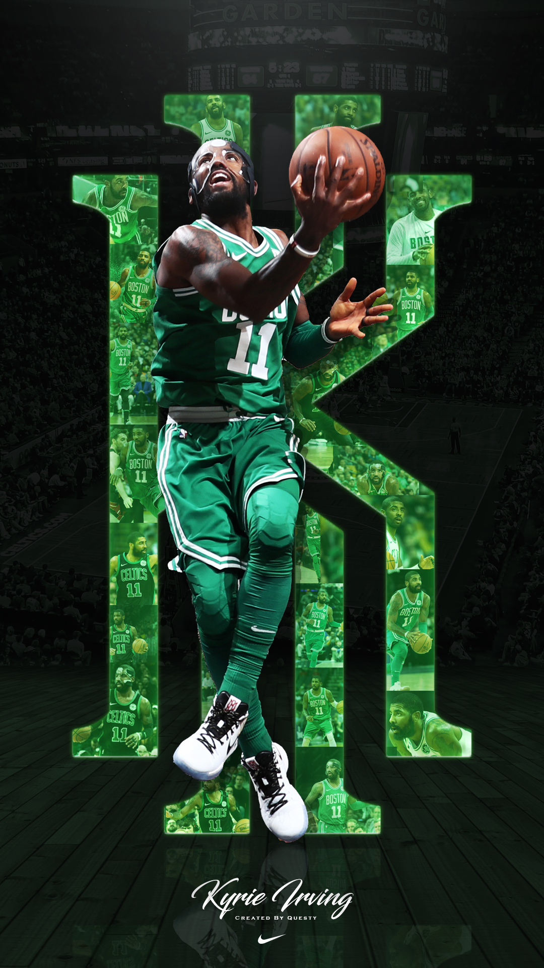 Kyrie Irving Celtics Iphone Wallpaper Created By Questytv On Twitter Kyrie Irving Celtics Irving Wallpapers Nba Wallpapers