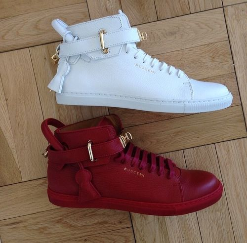 Buscemi shoes  white  red  055942f1d2