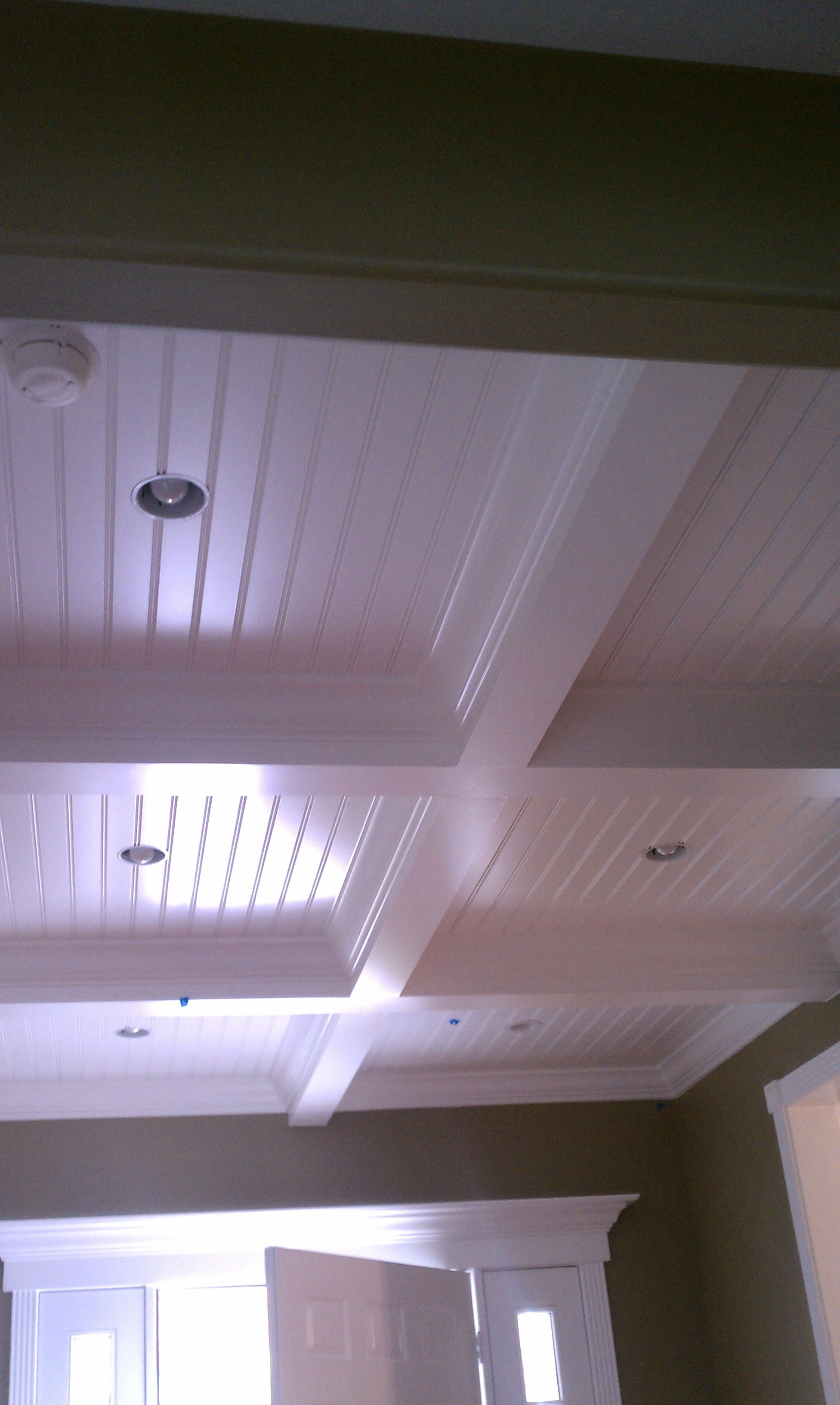 Thick Grid Beadboard Basement Ceiling Basement Ceiling Ideas Cheap Low Ceiling Basement