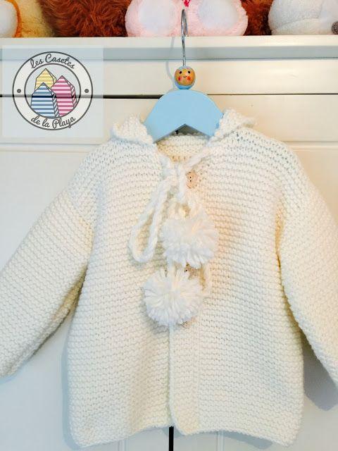 chaqueta blanca para bebé | Prendas de Punto | Pinterest | Para ...