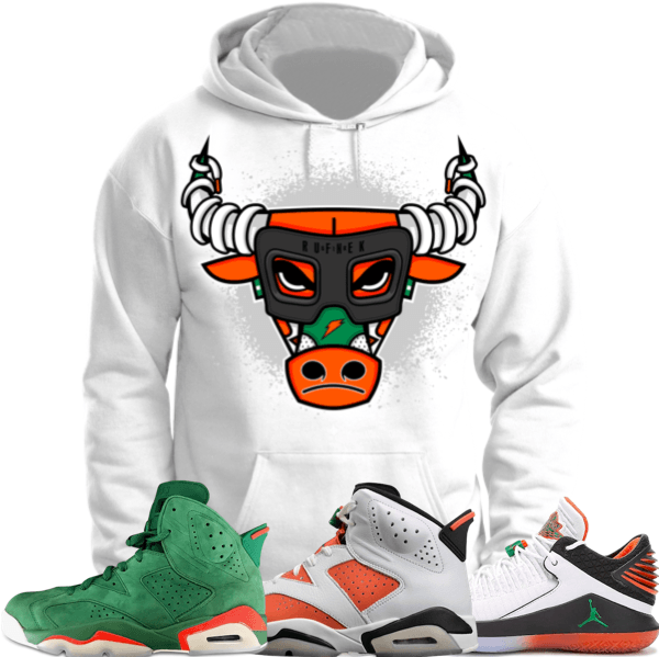 e6c156671bc291 Jordan Retro 6 Gatorade Sneaker Hoodie to match made by Original Rufnek  Clothing. Shirt is made out of pre-shrunk cotton and fits true to size.