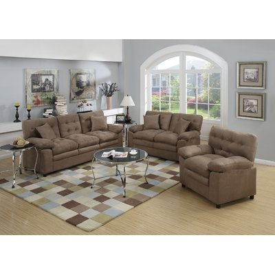 Red Barrel Studio Kingston 3 Piece Living Room Set Upholstery