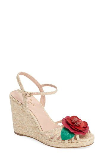 Kate Spade new york beekman strappy wedge sandal (Women) available at #Nordstrom