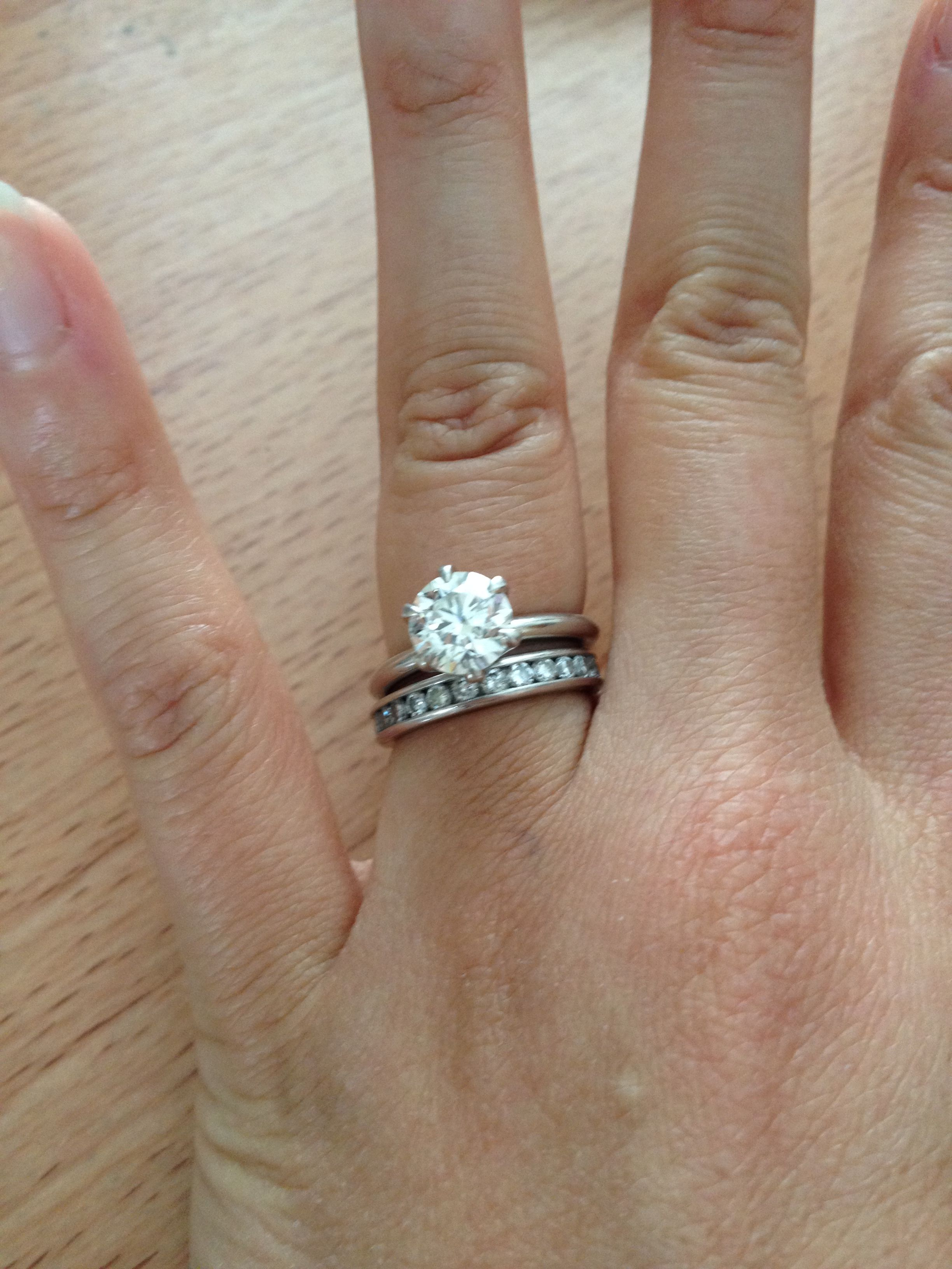 Solitaire And Channel Set Wedding Band Channel Set Wedding Band Engagement Rings Channel Set Channel Set Rings