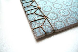 Lbforgues (Papercrafts): Japanese Stab Binding: Hemp Leaf Pattern