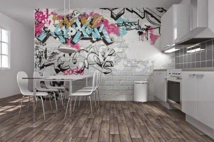40 coole dekoideen mit graffiti im zimmer wanddeko pinterest graffiti graffiti wall and art. Black Bedroom Furniture Sets. Home Design Ideas