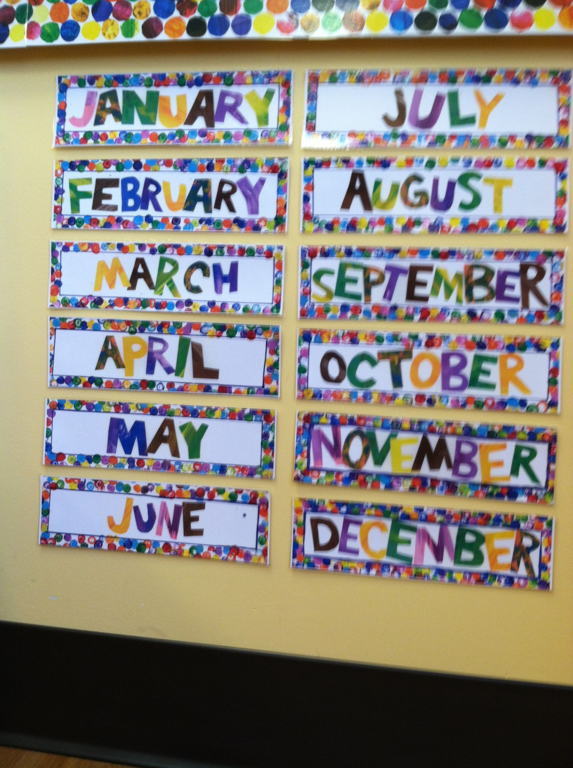 Eric Carle Style Months Of The Year
