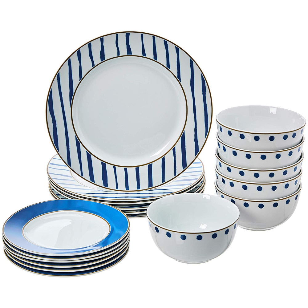 AmazonSmile | AmazonBasics 18-Piece Kitchen Dinnerware Set, Dishes, Bowls, Service for 6, Cottage: Dinnerware Sets #casualdinnerware AmazonSmile | AmazonBasics 18-Piece Kitchen Dinnerware Set, Dishes, Bowls, Service for 6, Cottage: Dinnerware Sets #casualdinnerware