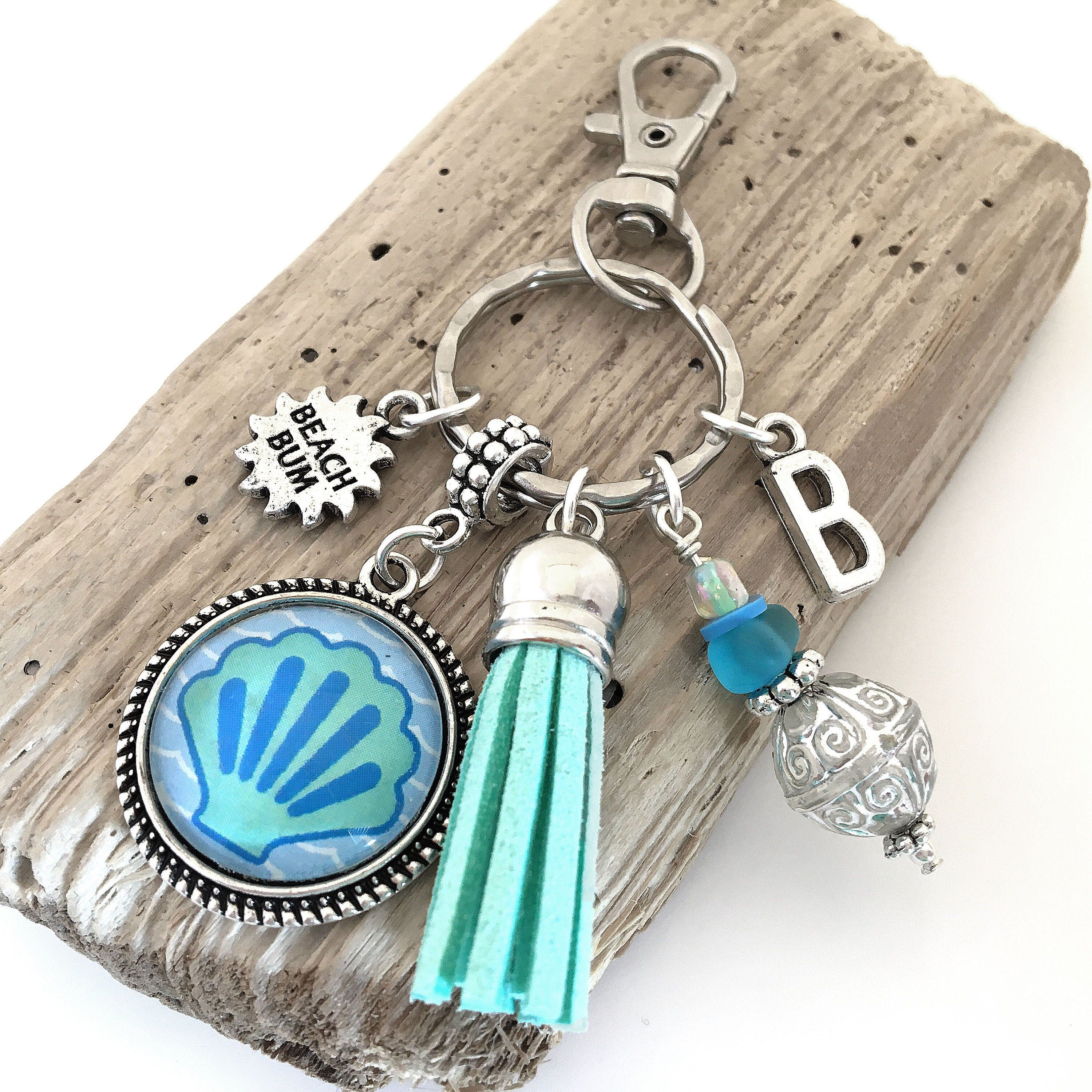 Sand between your toes beach//holiday memories bag charm//key ring
