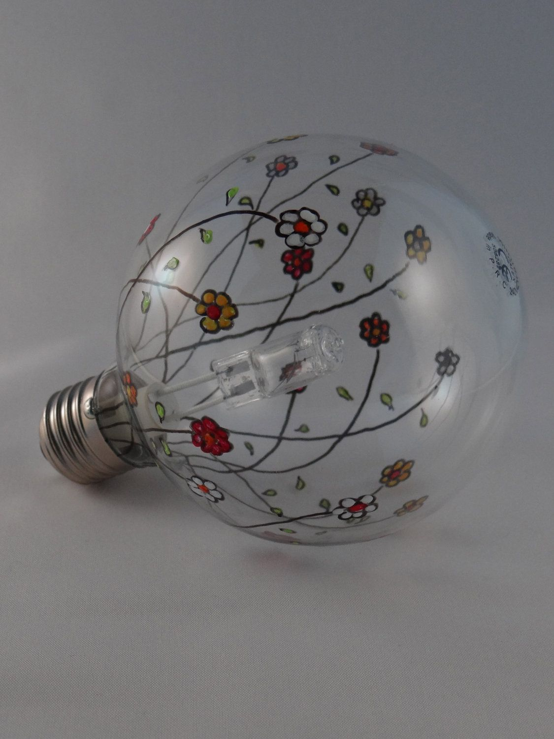 decorated XL lightbulb dimmable floral motif u20ac3500