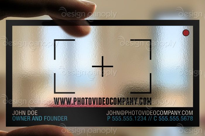 One of the most awesome business cards ever transparent photography one of the most awesome business cards ever transparent photography video business card reheart Gallery