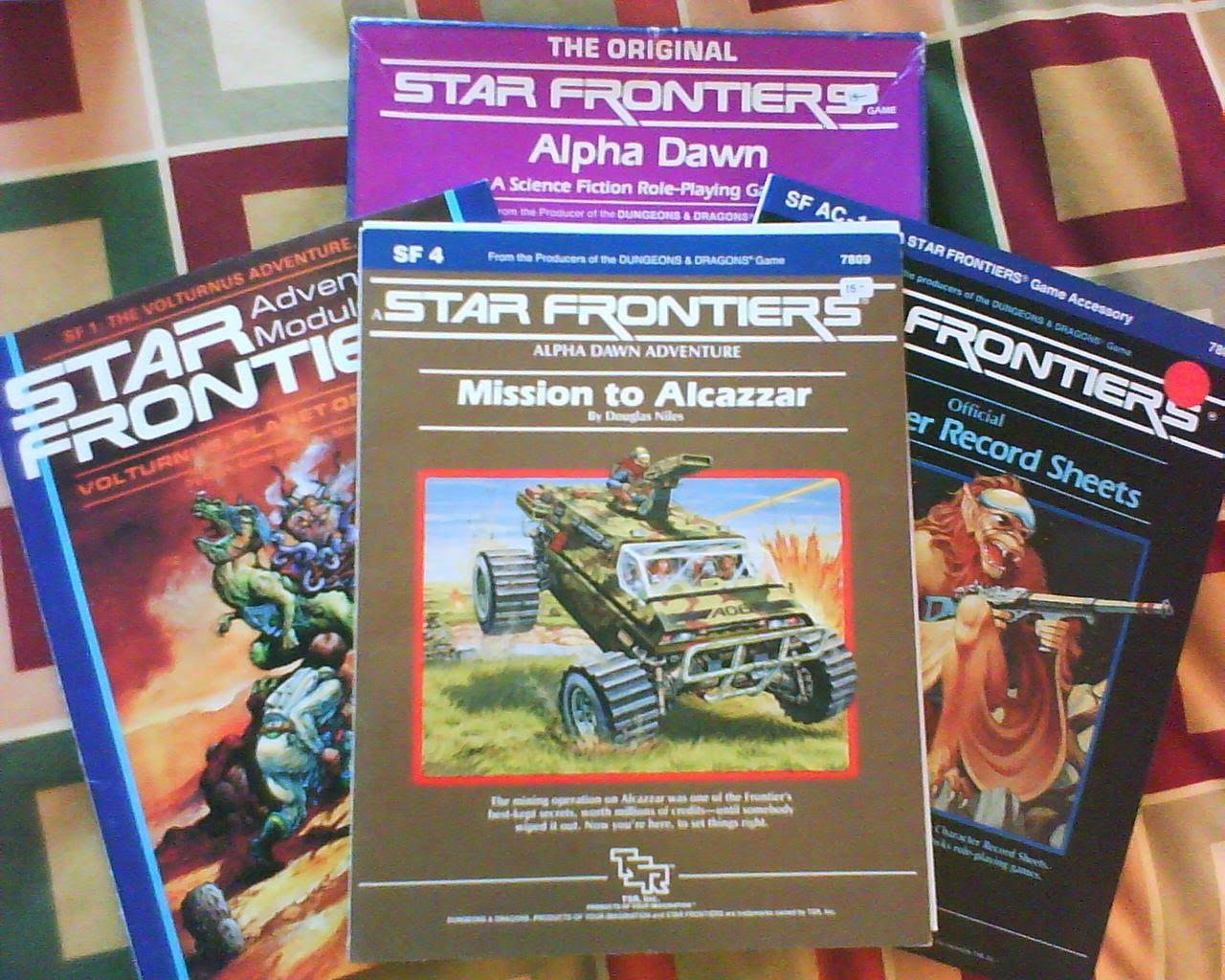 El Descanso del Escriba: Star Frontiers,el Space Opera de TSR