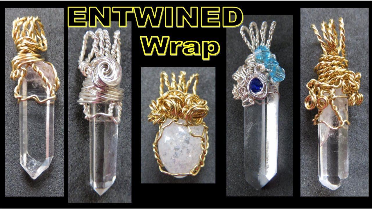 EASY Jewelry Making Tutorial - Entwined Wrap Pendant   Liz Kreate ...