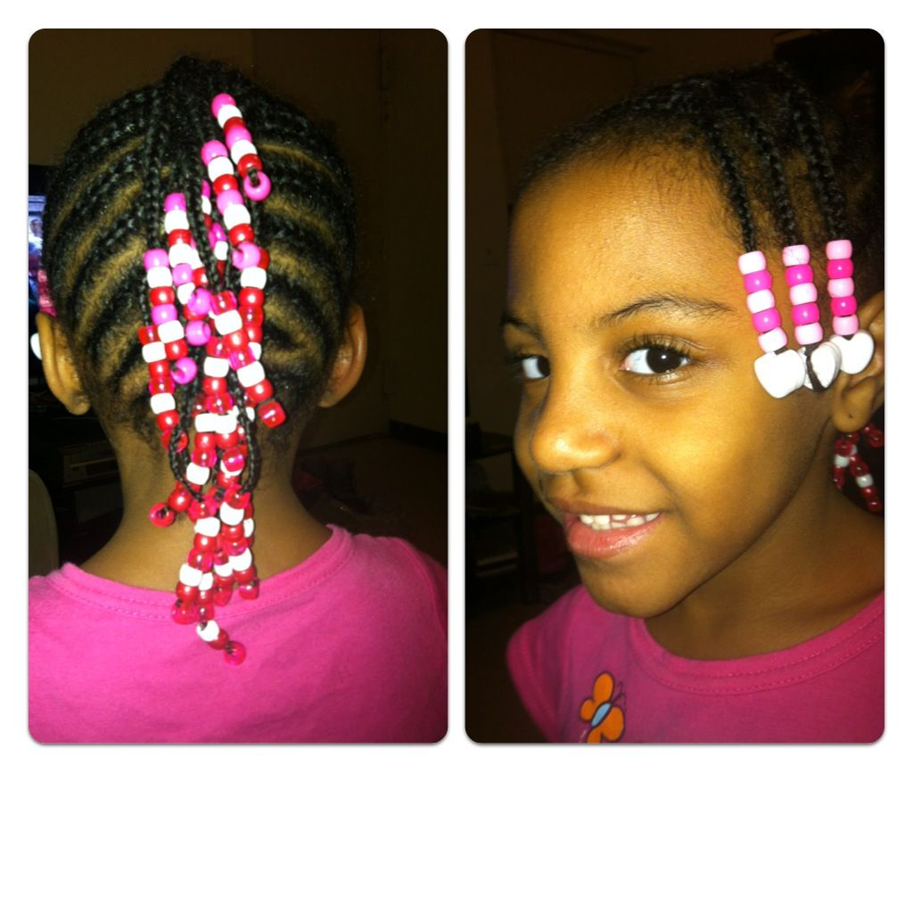 Mohawk braids with beads valentines day styles kids style
