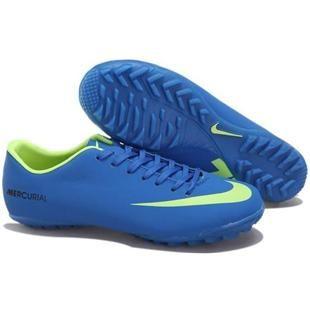 886a3788463 Nike Mercurial Vapor IX TF Astro Turf Sky Blue and Volt Nike Vapor 9  Football Shoes
