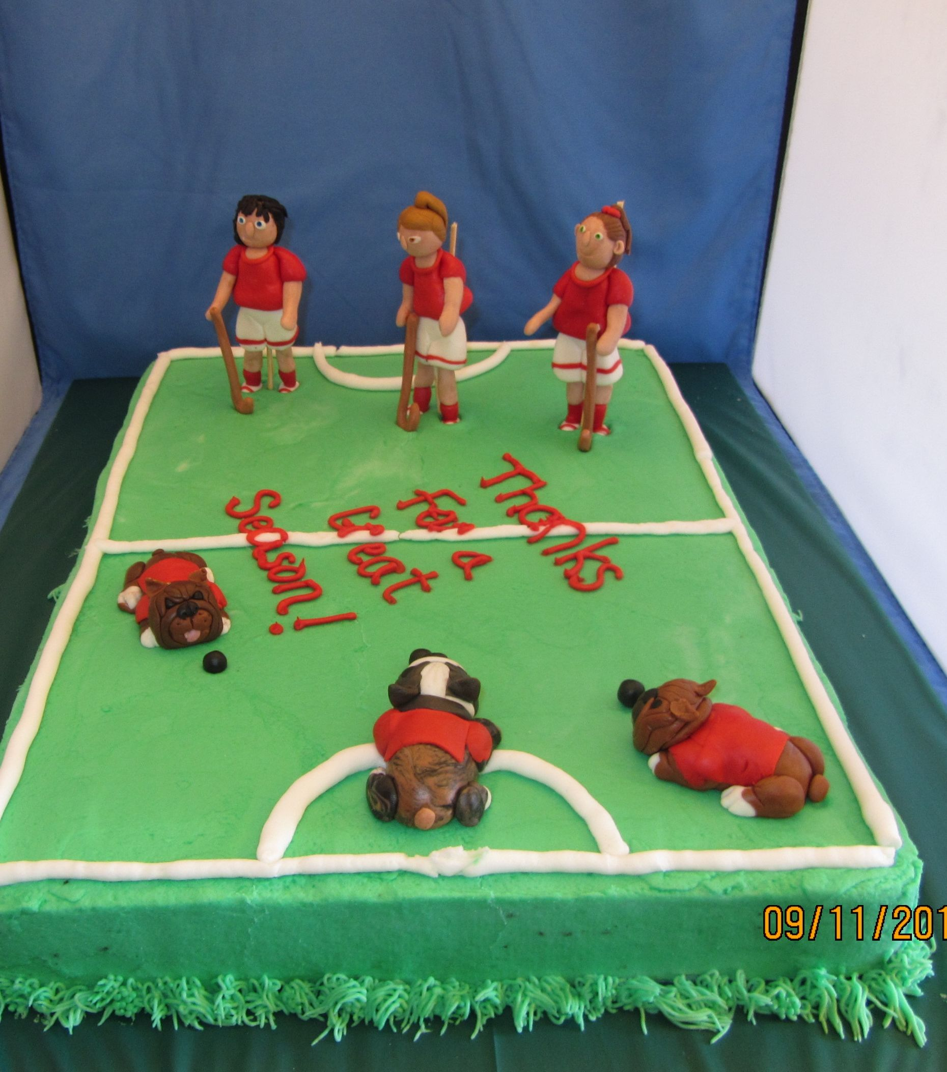 Field Hockey Cake Perfect For End Of The Season Celebrations
