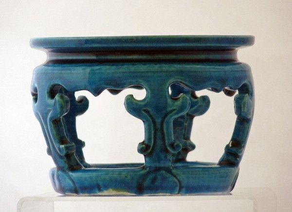 Kangxi Turquoise Ground Bowl Vase Stand Catherine Hunt Oriental