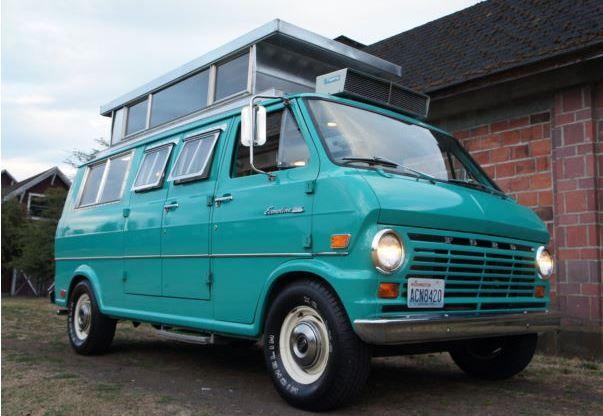 Super Clean 17k Mile 1969 Ford Econoline Camper Old School Vans