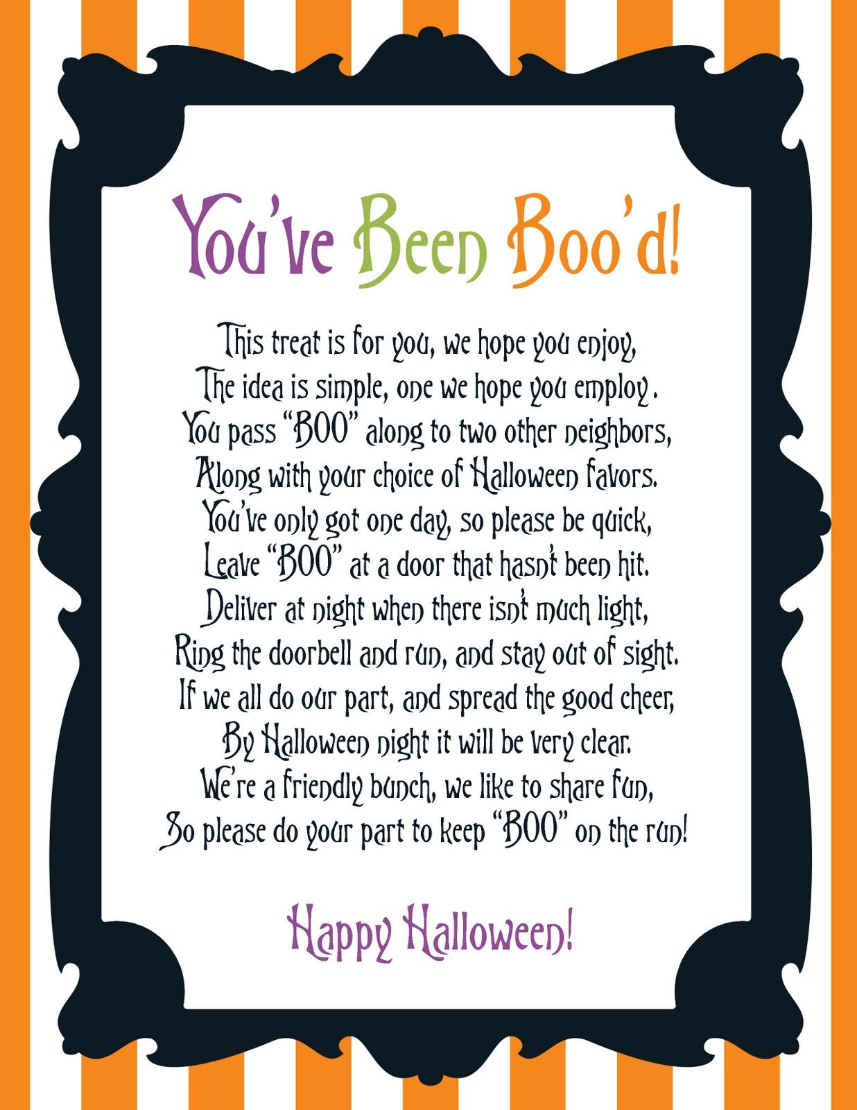 image about You've Been Booed Printable Pdf identified as Get together NV: Freebie Friday Youve Been Bood Halloween