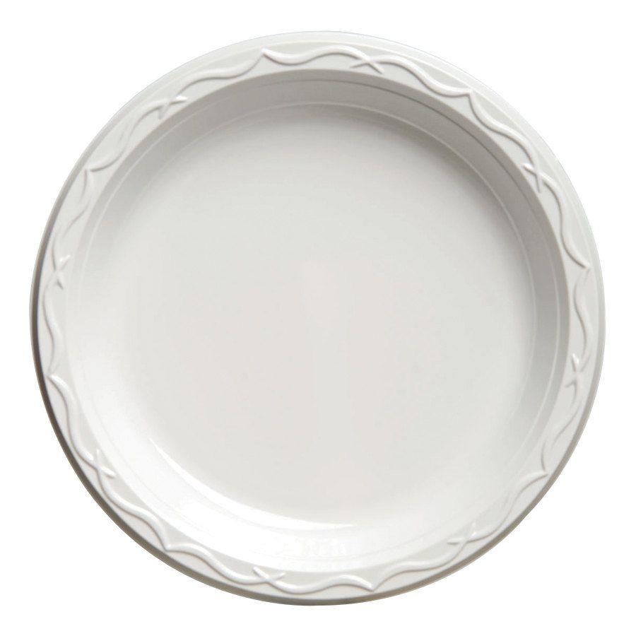 Genpak 70600 6  Heavy Weight White Plastic Plate 125 / Pack Use nice white plastic plates and those thick silver plastic silverware.  sc 1 st  Pinterest & Genpak 70600 Aristocrat 6
