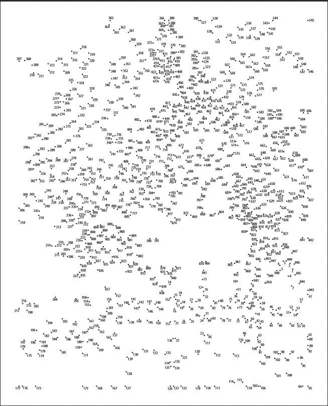 Handy image within free printable dot to dot puzzles for adults