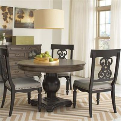 Riverside 15851 Belmeade Round Dining Table Discount Furniture At Hickory  Park Furniture Galleries