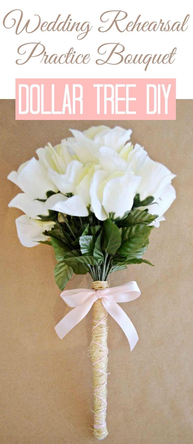 Budget Bridal Shower Decor And Ideas Diy Wedding Bouquet Dollar Tree Wedding Rehearsal Bouquet