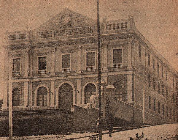 O prédio após a reforme em dezembro de 1927 (clique para ampliar).